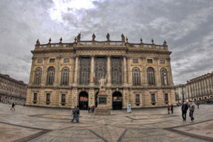 Palazzo Madama and the museum of ancient art in Turin