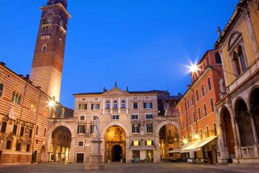 Piazza dei Signori and Arche Scaligere in Verona