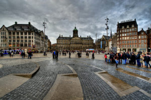 Dam Square and the Royal Palace in Amsterdam