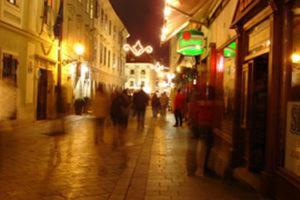 Night life in Bratislava