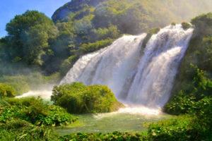 Terni, Marmore waterfall in Umbria