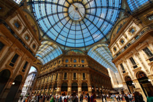 The Galleria Vittorio Emanuele in Milan