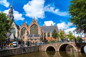 The Oude Kerk (Old Church) in Amsterdam