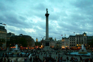 Trafalgar Square and the National Gallery in London