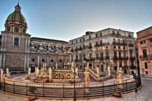 Pretoria Fountain in Palermo