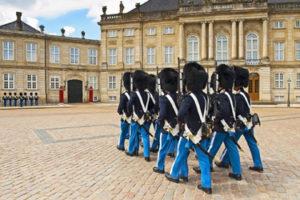 Royal Palace of Amalienborg in Copenhagen