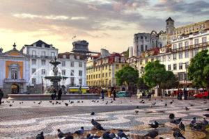 The Baixa in Lisbon
