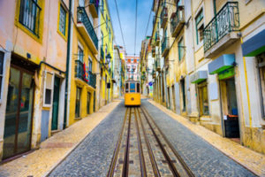 The Barrio alto in Lisbon