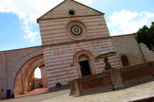 The Basilica of St Chiara in Assisi