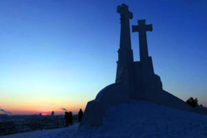 The Hill of Three Crosses in Vilnius