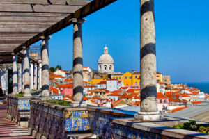 The Miradouro de Santa Luzia in Lisbon