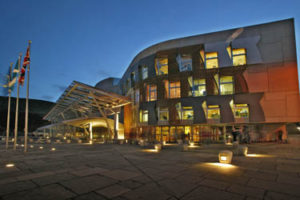 The Scottish Parliament in Edinburgh