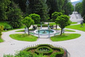 The Tivoli Park in Ljubljana