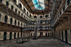 The prison of Kilmainham Gaol in Dublin