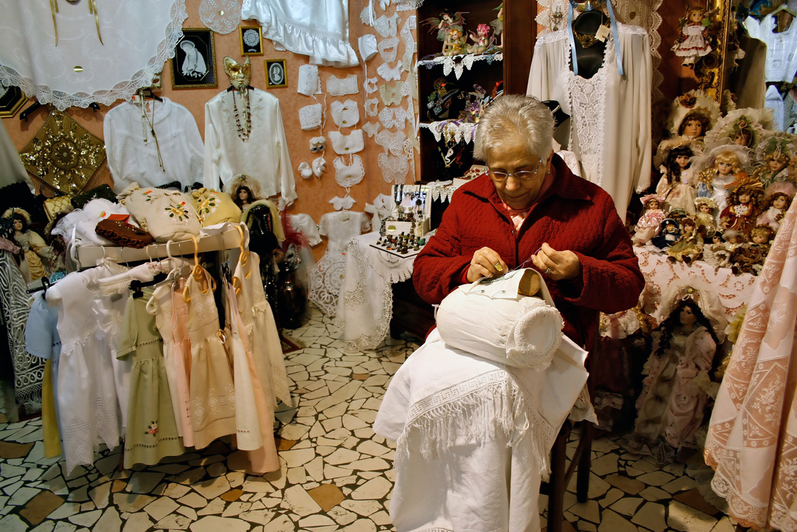 Lace manufacturing in Burano