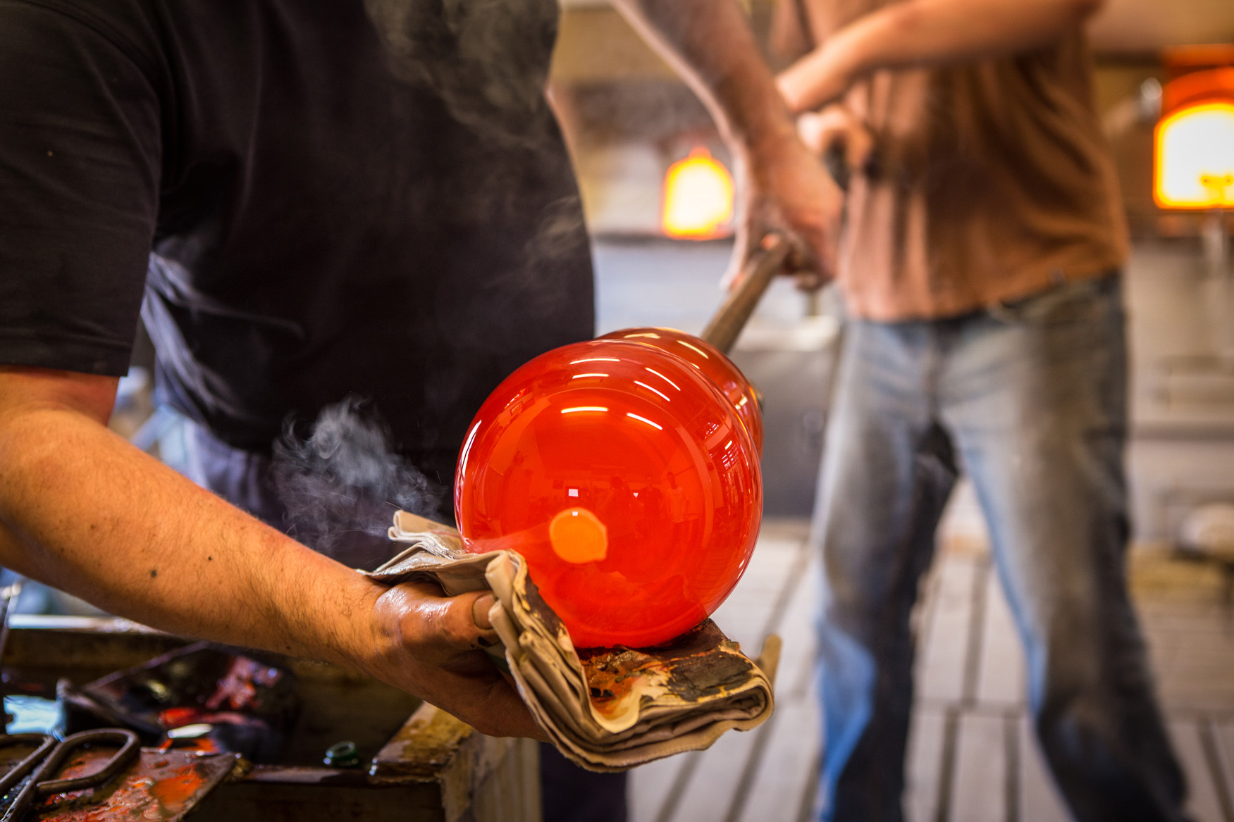 Murano glass processing