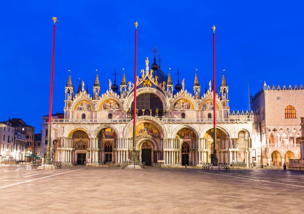 Venice The Basilica Of San Marco In Venice