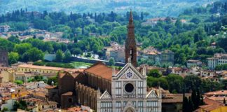 The Church of Santa Croce in Florence