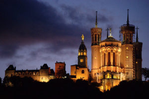 The Fourviere Basilica in Lyon