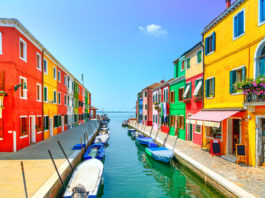 The Island of Burano in Venice
