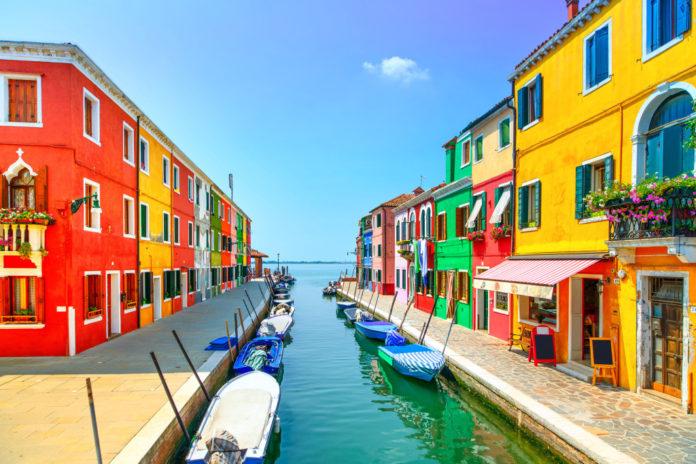 The Island of Burano in Venice