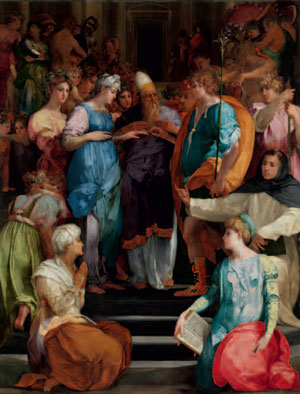 The Marriage of the Virgin by Rosso Fiorentino