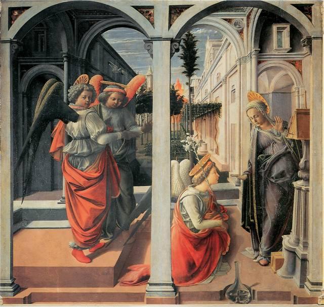 The Martelli Annunciation by Filippo Lippi