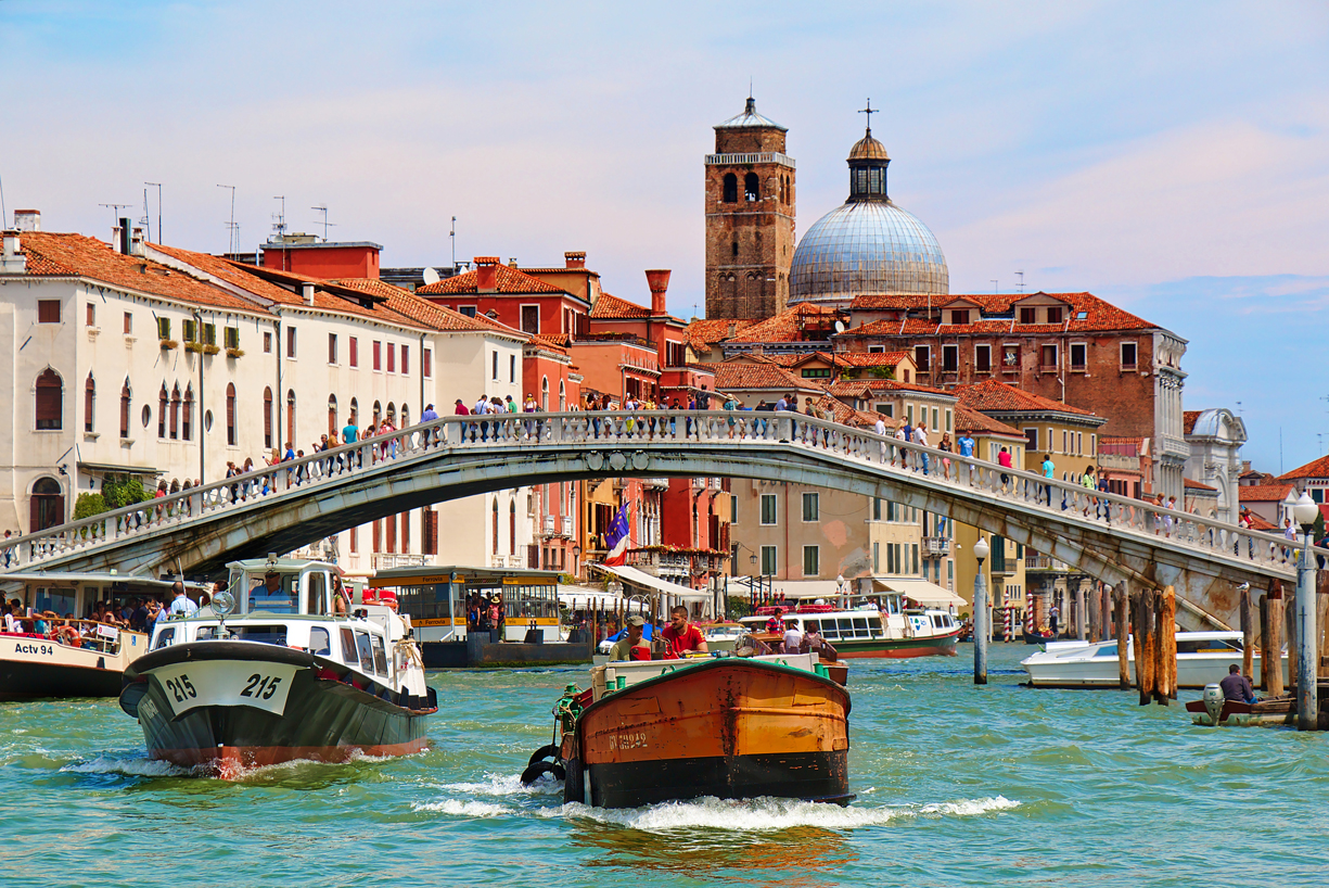 The Ponte degli Scalzi in Venice