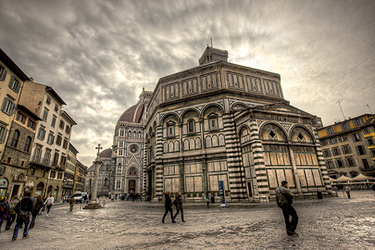 The architecture of the Baptistery in Florence
