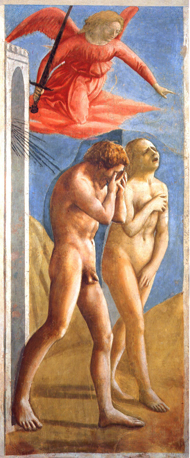 The expulsion of Adam and Eve by Masaccio