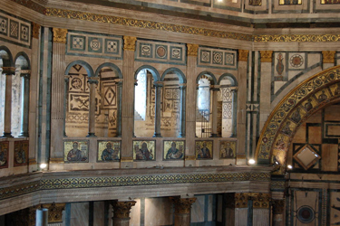 The interior of the Baptistery