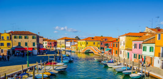 The island of Murano in Venice