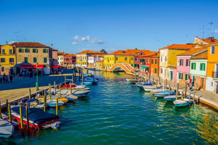 The island of Murano in Venice